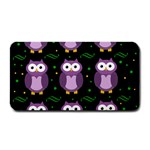 Halloween purple owls pattern Medium Bar Mats