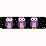 Halloween purple owls pattern Large Bar Mats 34 x9.03 Bar Mat - 1