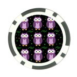 Halloween purple owls pattern Poker Chip Card Guards