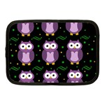 Halloween purple owls pattern Netbook Case (Medium)