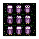 Halloween purple owls pattern Face Towel