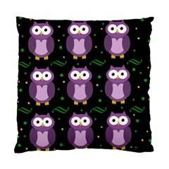 Halloween purple owls pattern Standard Cushion Case (One Side)