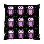 Halloween purple owls pattern Standard Cushion Case (Two Sides)