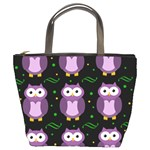 Halloween purple owls pattern Bucket Bags