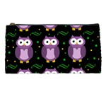 Halloween purple owls pattern Pencil Cases Front