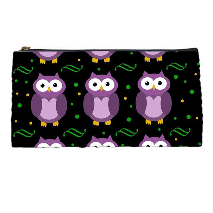 Halloween purple owls pattern Pencil Cases