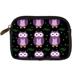 Halloween Purple Owls Pattern Digital Camera Cases
