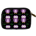 Halloween purple owls pattern Digital Camera Cases Back