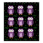 Halloween purple owls pattern Shower Curtain 66  x 72  (Large)  58.75 x64.8 Curtain