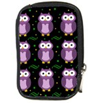Halloween purple owls pattern Compact Camera Cases