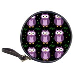 Halloween purple owls pattern Classic 20-CD Wallets