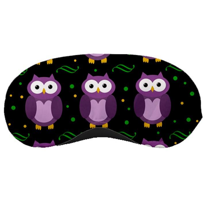 Halloween purple owls pattern Sleeping Masks