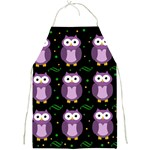 Halloween purple owls pattern Full Print Aprons Front
