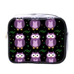 Halloween purple owls pattern Mini Toiletries Bags
