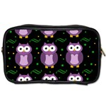 Halloween purple owls pattern Toiletries Bags 2-Side