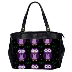 Halloween purple owls pattern Office Handbags