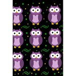 Halloween purple owls pattern 5.5  x 8.5  Notebooks