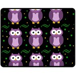 Halloween purple owls pattern Fleece Blanket (Medium)