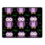 Halloween purple owls pattern Fleece Blanket (Small)