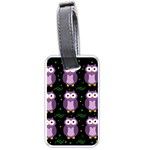Halloween purple owls pattern Luggage Tags (One Side)