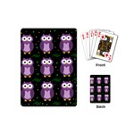Halloween purple owls pattern Playing Cards (Mini)