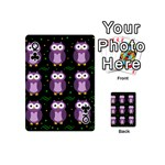 Halloween purple owls pattern Playing Cards 54 (Mini)  Front - ClubQ