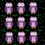 Halloween purple owls pattern Storage Stool 12   Top