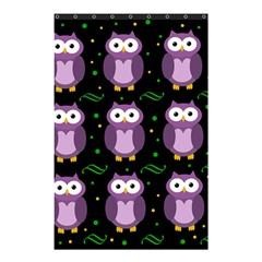 Halloween Purple Owls Pattern Shower Curtain 48  X 72  (small)