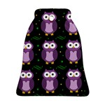Halloween purple owls pattern Ornament (Bell)
