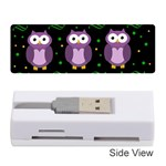 Halloween purple owls pattern Memory Card Reader (Stick)