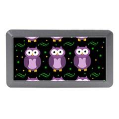 Halloween purple owls pattern Memory Card Reader (Mini)