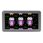 Halloween purple owls pattern Memory Card Reader (Mini)