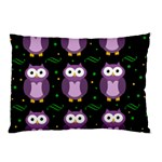 Halloween purple owls pattern Pillow Case (Two Sides) Back