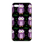 Halloween purple owls pattern Apple iPhone 4/4s Seamless Case (Black)