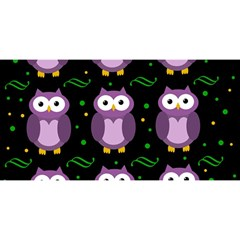 Halloween Purple Owls Pattern You Are Invited 3d Greeting Card (8x4) by Valentinaart