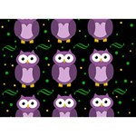 Halloween purple owls pattern LOVE Bottom 3D Greeting Card (7x5) Front