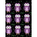 Halloween purple owls pattern Circle 3D Greeting Card (7x5) Inside