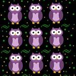 Halloween purple owls pattern ENGAGED 3D Greeting Card (8x4) Inside
