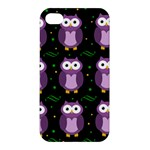 Halloween purple owls pattern Apple iPhone 4/4S Hardshell Case