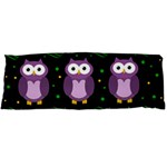 Halloween purple owls pattern Body Pillow Case (Dakimakura)