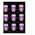 Halloween purple owls pattern Small Garden Flag (Two Sides) Back