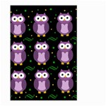 Halloween purple owls pattern Large Garden Flag (Two Sides)
