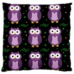 Halloween purple owls pattern Large Cushion Case (Two Sides)