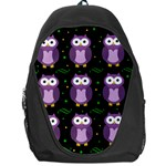 Halloween purple owls pattern Backpack Bag