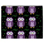 Halloween purple owls pattern Cosmetic Bag (XXXL)