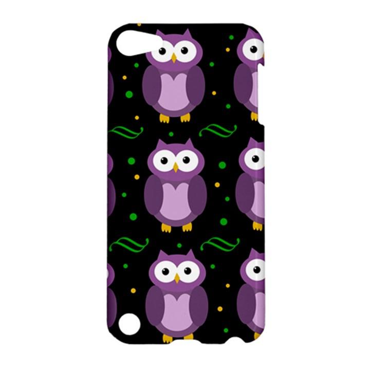 Halloween purple owls pattern Apple iPod Touch 5 Hardshell Case