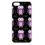 Halloween purple owls pattern Apple Seamless iPhone 5 Case (Clear)