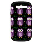 Halloween purple owls pattern Samsung Galaxy S III Hardshell Case (PC+Silicone)