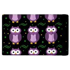 Halloween purple owls pattern Apple iPad 2 Flip Case