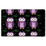 Halloween purple owls pattern Apple iPad 3/4 Flip Case